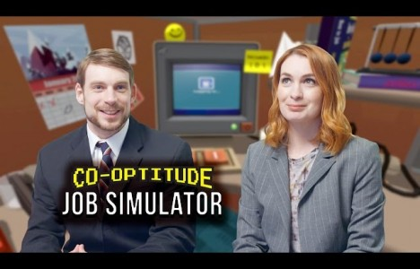Watch Let's Play JOB SIMULATOR! (Co-Optitude w/ Ryon & Felicia Day)